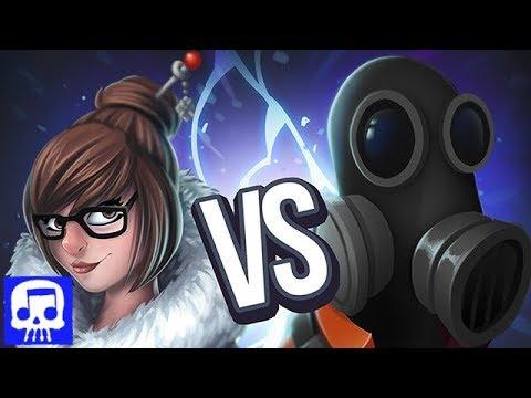 Mei vs Pyro Rap Battle LYRIC VIDEO by JT Music