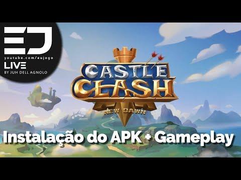 NOVO CASTLE CLASH NEW DAWN   INSTALAÇÃO DO APK + GAMEPLAY