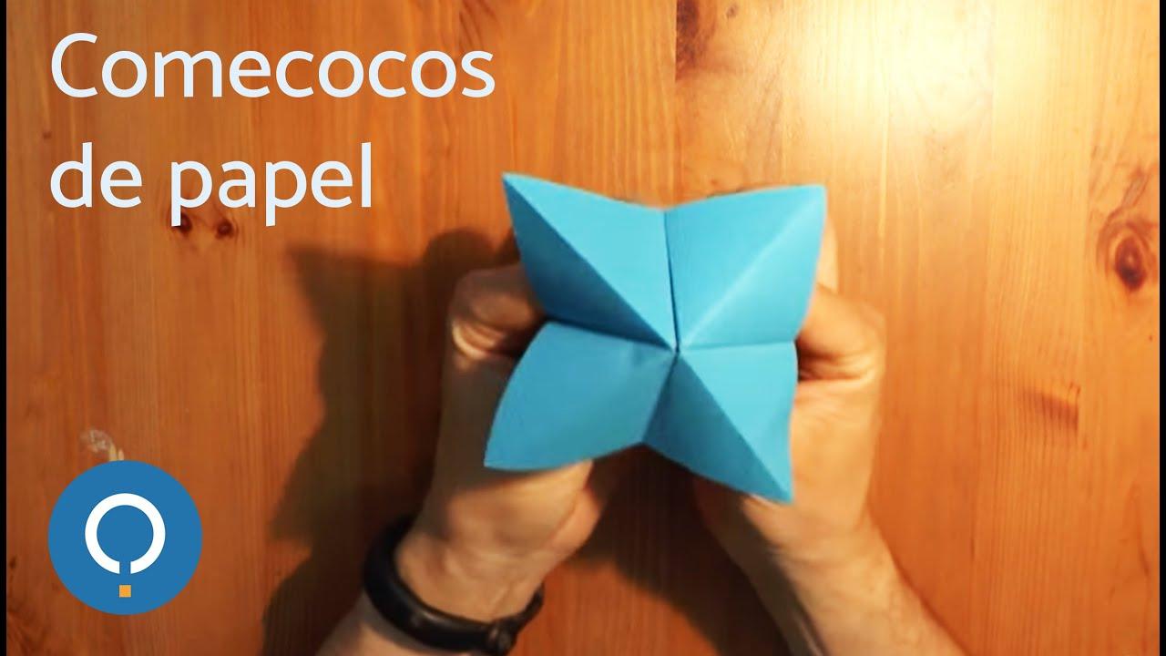 C mo hacer un comecocos de papel youtube - Como se hace manualidades ...