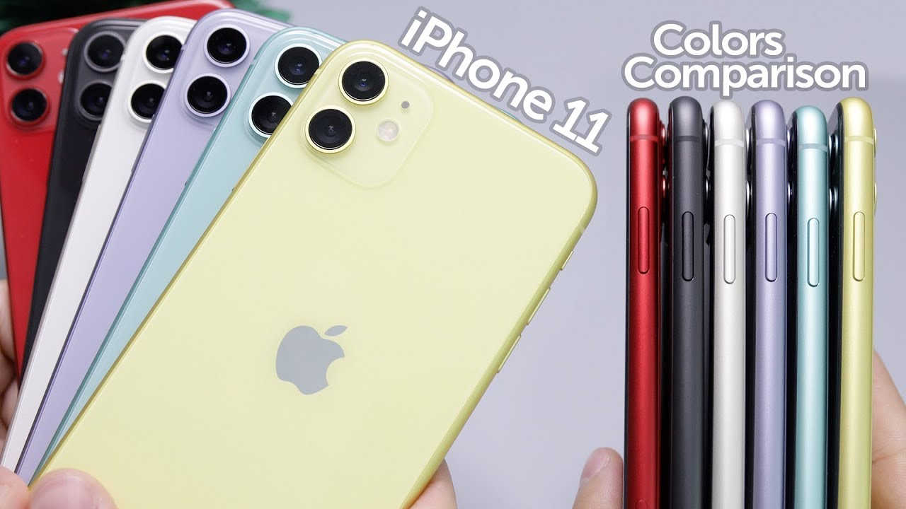 iPhone 11 All Colors In,Depth Comparison! Which is Best?
