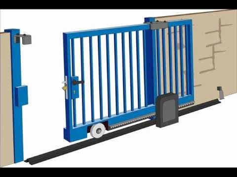 Sliding gate hardware