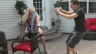 ANGRY GRANDMOM GETS ATTACKED! PRANK -