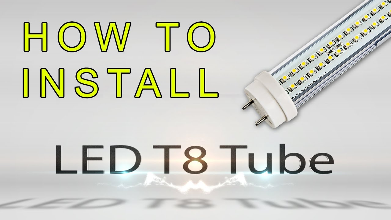 How To Install Led T8 Tube Youtube General Electric Ballast Wiring Diagram