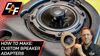 How to Make Speaker Adapter Brackets  - ABS Plastic - CarAudioFabrication