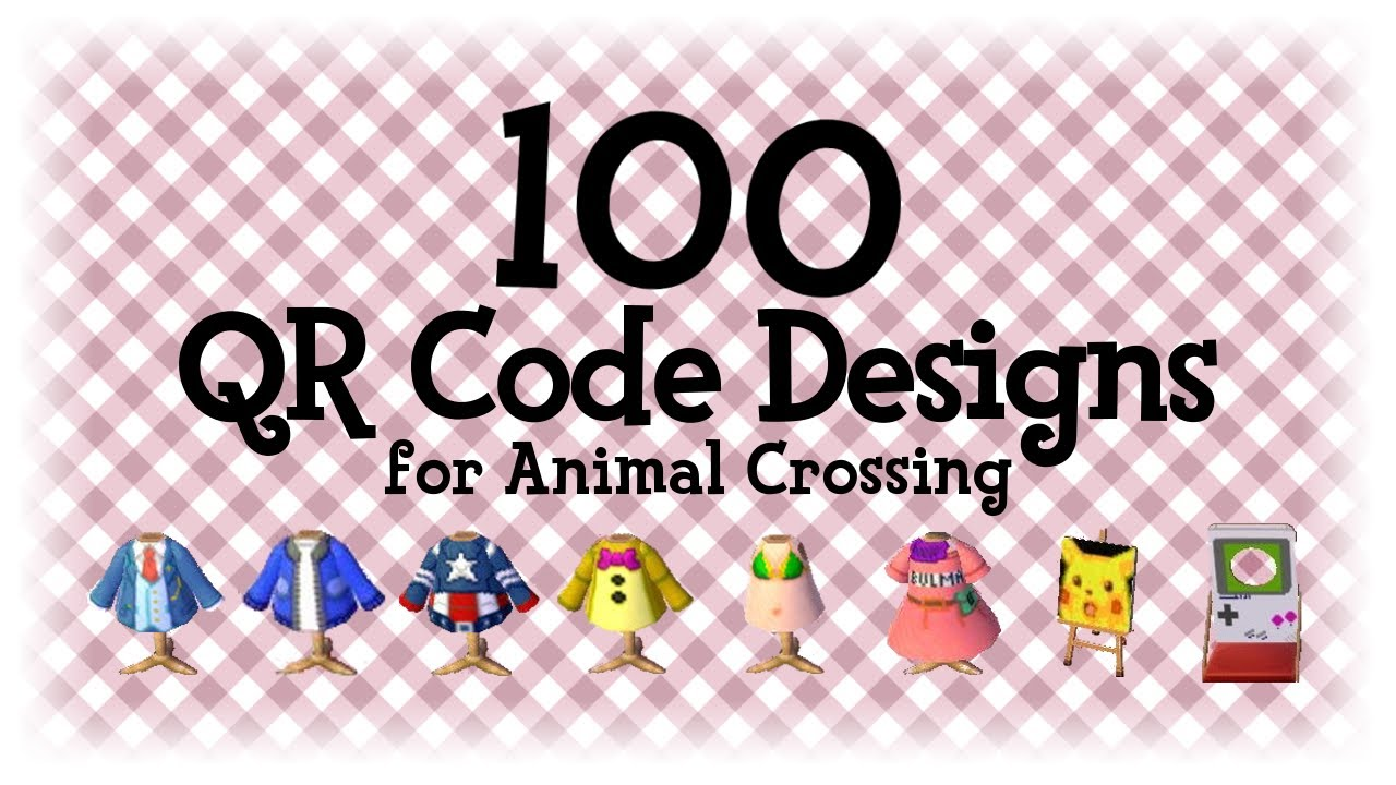 100 Qr Code Designs 1 Animal Crossing New Horizons Acnh Acnl