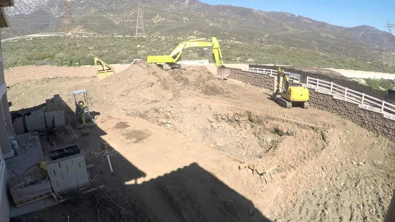 Back Yard Excavation : Another time lapse video showing the landscape excavation