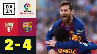 Dreierpack! Lionel Messi macht's wie Zinedine Zidane: FC Sevilla - FC Barcelona 2:4 | La Liga | DAZN