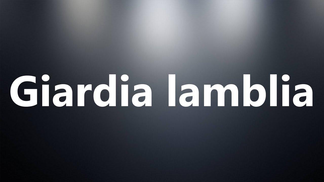 giardia pronunciation