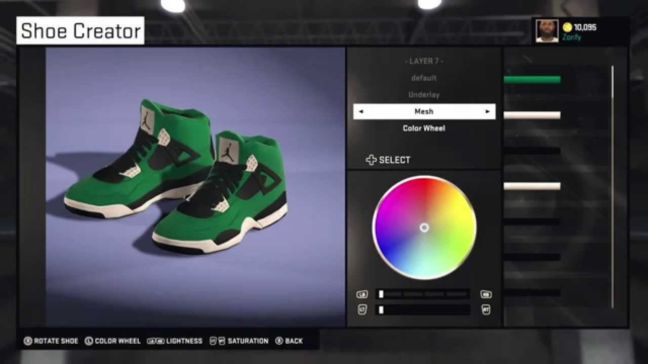 NBA 2K15 Shoe Creator - Air Jordan 4