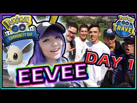 EEVEE RUSH DAY 1 COMMUNITY DAY IN POKEMON GO! thumbnail