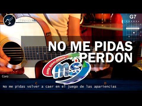 "No Me Pidas Perdón"" de Banda MS en Guitarra Acústica (HD) Tutorial ..."