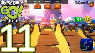 Angry Birds GO Android Walkthrough - Part 11 - AIR Track 1