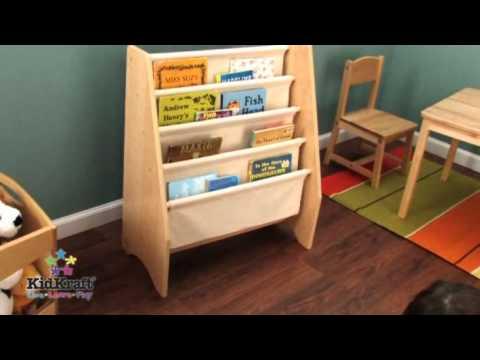 Kidkraft Sling Bookshelf Natural Kk14221