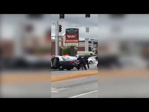 Police TASER man off van
