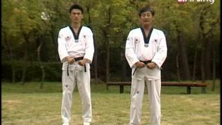 Taekwondo Step by Step Ep160 Taegeuk 7 Jang Wen beom-seogi 왼범서기 Batangson kodureo momtong an-makki