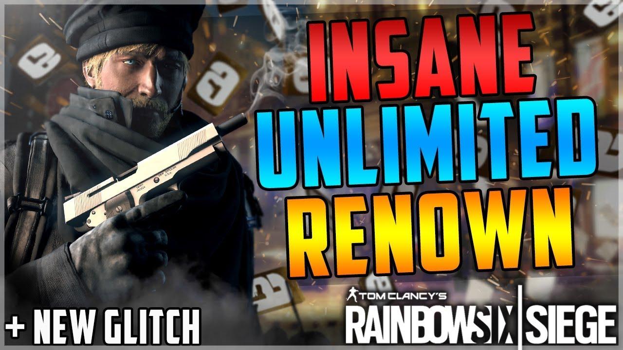 UNLIMITED AFK RENOWN GLITCH IN RAINBOW SIX SIEGE - YouTube