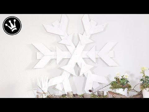 Tutorial - XXL Schneeflocke aus Paletten selber machen I Winterdeko I Shabby Chic Stil