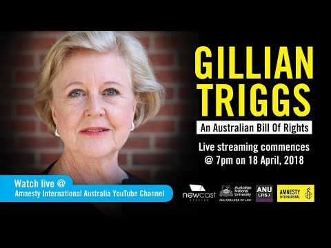 LIVE STREAM: Gillian Triggs – An Australian Bill of Rights