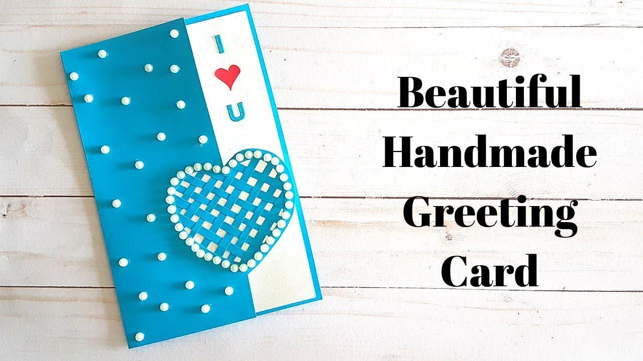 creative handmade birthday greeting card for hubby  wife
