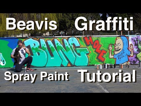 ArtPrimo.com Beavis Graffiti Spray Paint Tutorial