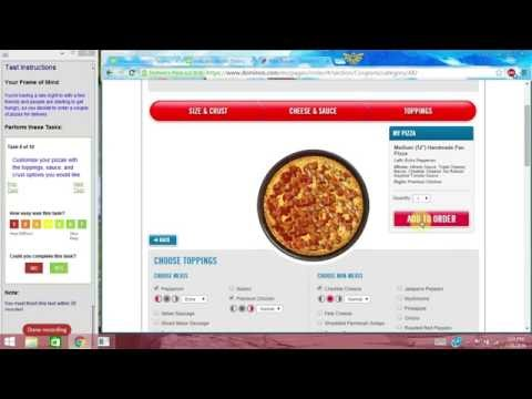 Domino's Pizza Website Usability Test Example