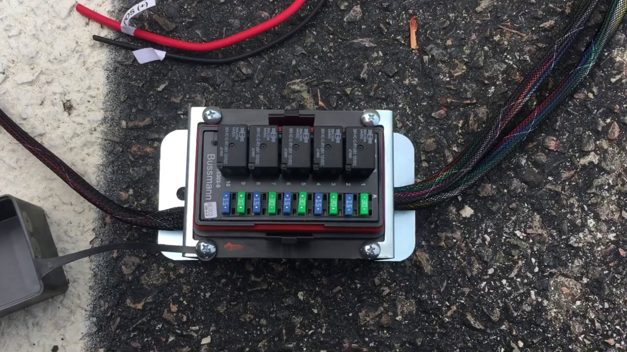 Off Road Waterproof Fuse Box Best Electrical Circuit Wiring Diagram Schematic With Weatherproof Relay For Lighting And Accessories Review Youtube Rh Com Universal Auto Panel