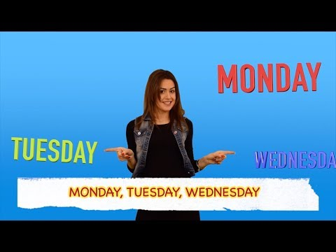 Days of the Week (Learning English Songs - Alison)