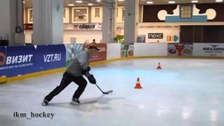 Обманные движения, обводка в хоккее. Подводящие упражнения.