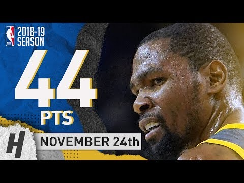 Kevin Durant EPIC Highlights Warriors vs Kings 2018.11.24 - 44 Pts, 7 Ast, 13 Rebounds!