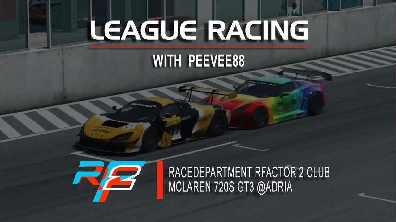 LEAGUE RACING: RaceDepartment rFactor 2 Club GT3 @Adria