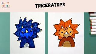 SKAL VI TEGNE triceratops