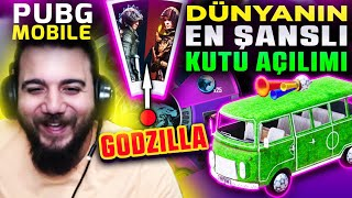 OHA!! DÜNYANIN EN ŞANSLI KUTU AÇILIMI! PUBG Mobile Godzilla