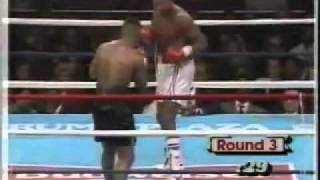 MIKE TYSON knocks out KO Larry Holmes