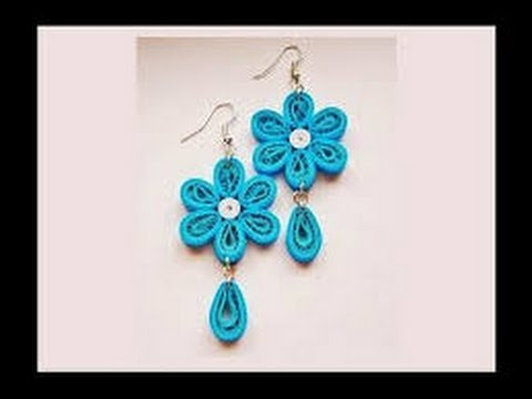 Quilling Paper Earrings Making With Comb Designs