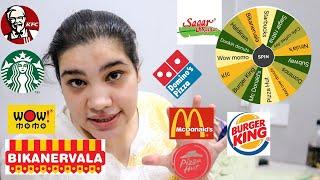 SPIN WHEEL  decide What I eat 😱 *DIMAG KHRAB HOGYA* || BT hogayi yaar 🤦🏼♀️ // 24 Hour Challenge