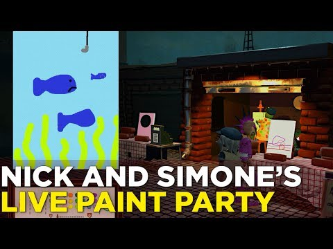 Nick and Simone Create Some Paintings in PASSPARTOUT