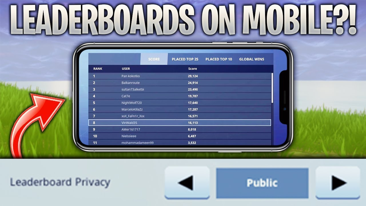 Stats And Leaderboards Coming To Fortnite Mobile Soon