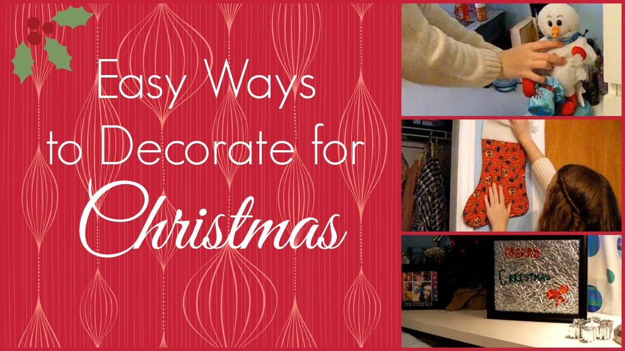 easy ways to decorate your room for christmas! + cute and easy diy
