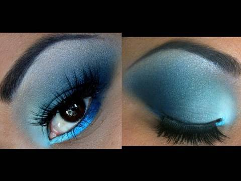 Bright to Dark Blue eyeshadow tutorial! - YouTube