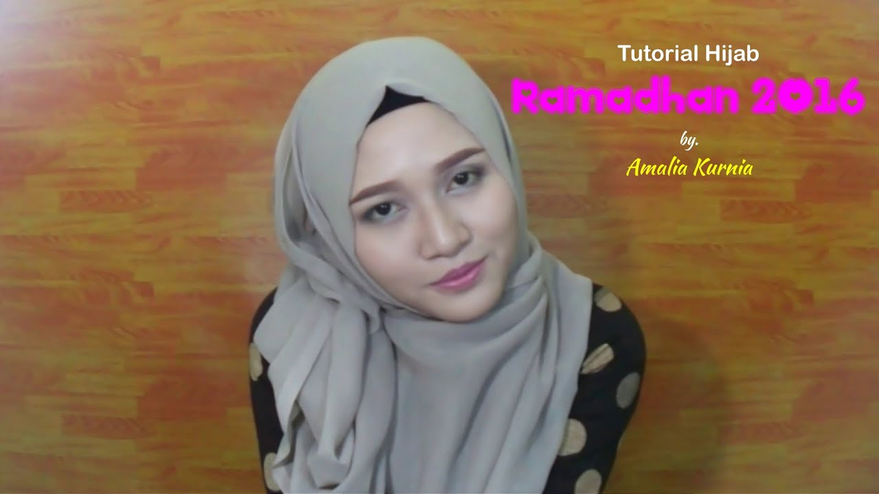 Tutorial Hijab Ramadhan 2016 Segiempat Paris INDONESIA
