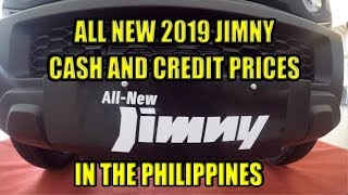 Jimny 2019, Cash and Credit Prices In the Philippines
