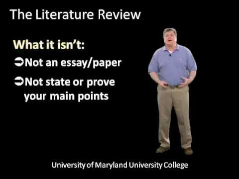 Writing The Literature Review Part One Step By Step