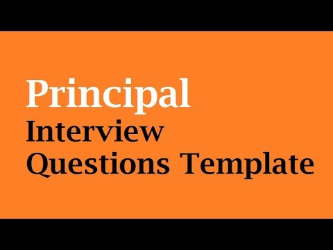 principal interview questions template youtube