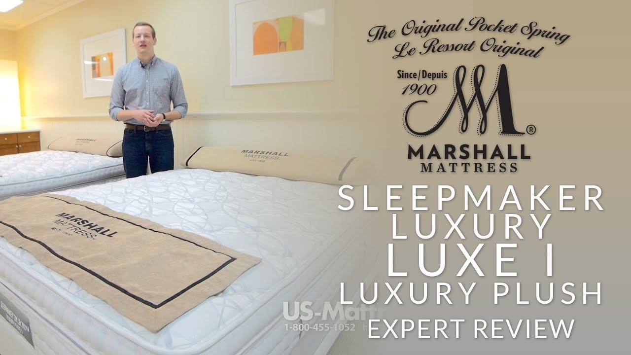Marshall Mattress Sleepmaker Luxury Luxe I Luxury Plush Mattress Expert  Review