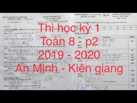 Giải đề thi toán 8 – p2 học kỳ I năm 2019 – 2020. An minh – kiên giang.
