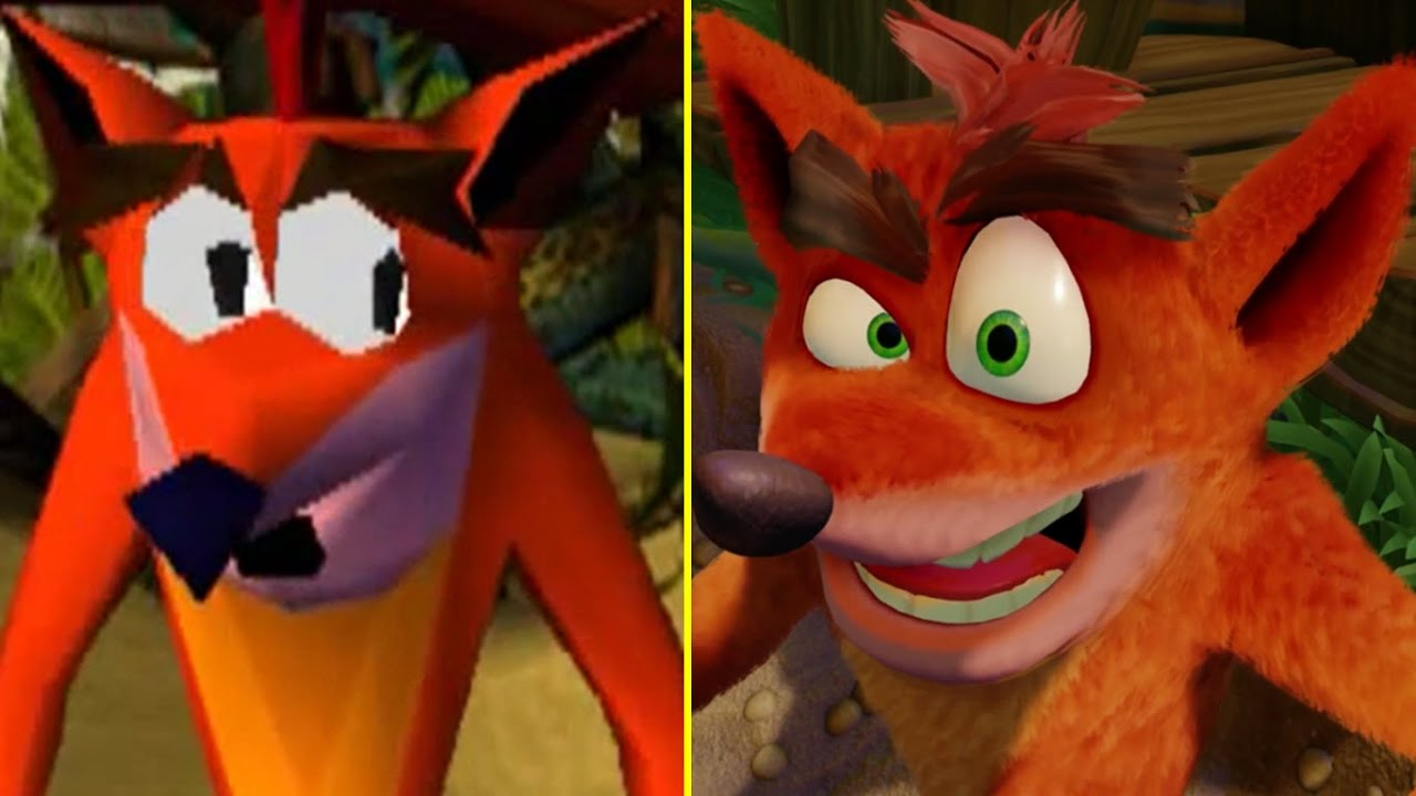 Crash Bandicoot PS One Vs PS4 Pro 4K Early Graphics
