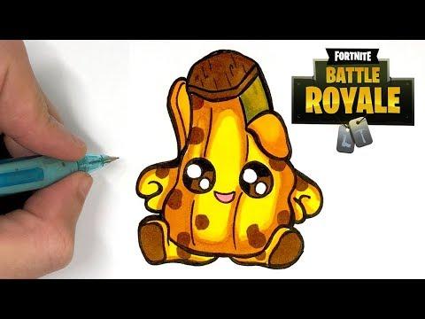 Como Dibujar Podrido Banana Kawaii Skin Fortnite Youtube