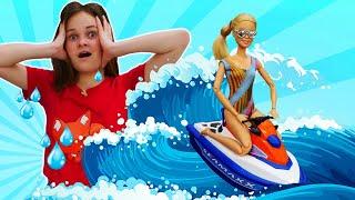 Новые игры для девочек - Кукла Барби отдыхает на море! – Смешное видео шоу Будет исполнено.