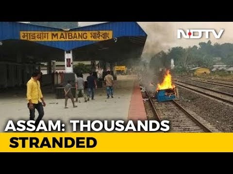 Passengers Stranded Amid Shutdown After 2 Killed In Police Firing In Assam