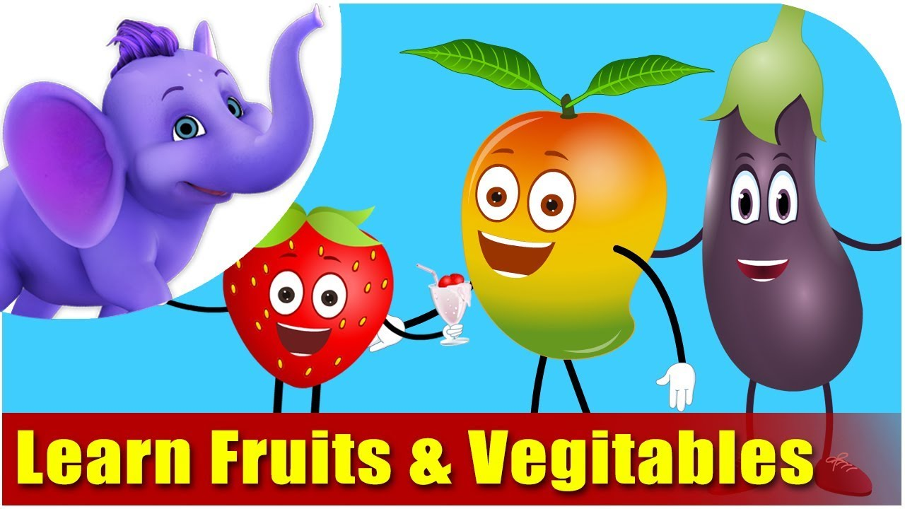 Lets Learn Fruits & Vegetables - Preschool Learning - YouTube